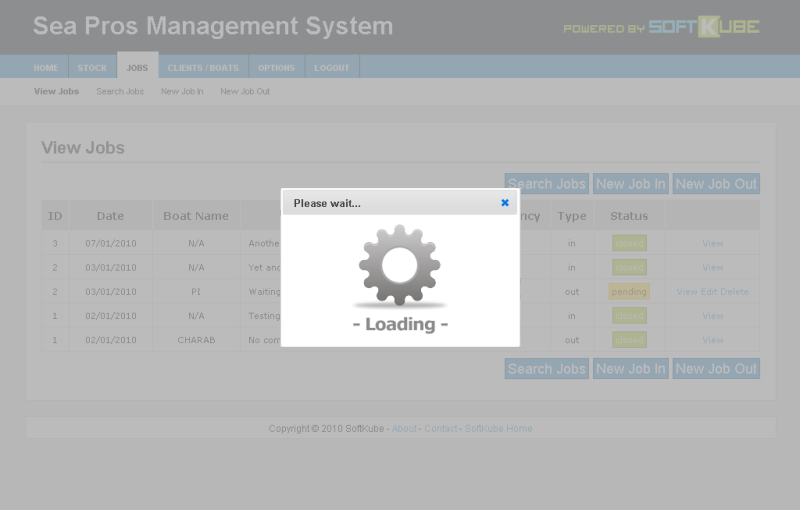 The user gets a comforting 'please wait' dialog while the system executes time-consuming operations.
