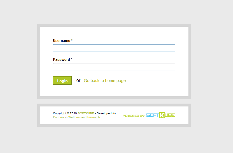 Beautifully designed login page to access the back-end of the kidney registry.