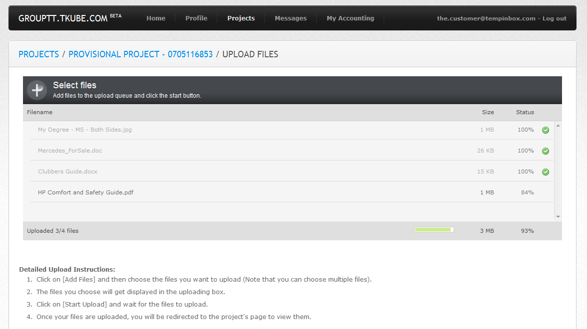 Multi File Upload with Progress Display